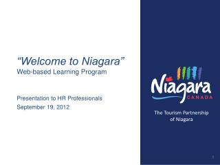 """Welcome to Niagara"" Web -based Learning Program"