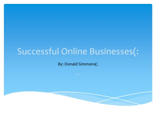 Successful Online Businesses(: