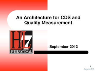 An Architecture for CDS and Quality Measurement