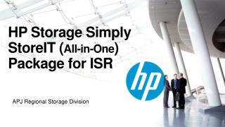 HP  Storage Simply  StoreIT  ( All-in-One )  P ackage for  ISR