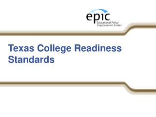 Texas College Readiness Standards