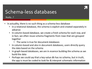 Schema-less databases