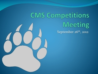 CMS Competitions Meeting