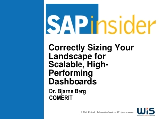 Correctly Sizing Your Landscape for Scalable, High-Performing Dashboards