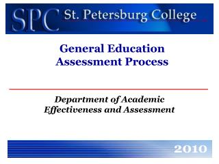 General Education  Assessment Process