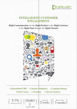 INTELLIGENT CUS T OMER ENG A GEMENT Right Communication for the Right Product to the Right Customer at the Right Time t