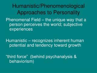 humanistic