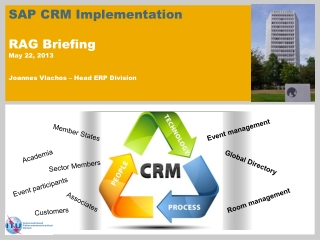 SAP CRM Implementation RAG Briefing May 22, 2013 Joannes Vlachos – Head ERP Division
