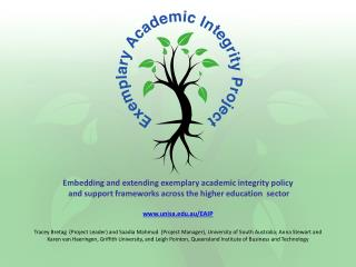 Embedding and extending exemplary academic integrity policy  and support frameworks across the higher education  sector