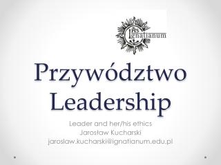 Przywództwo Leadership