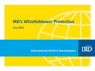IRD's Whistleblower Protection