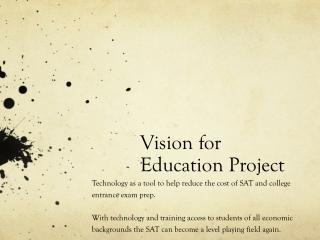 Vision for Education Project