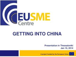 Presentation  in Thessaloniki Jan  10,  2014