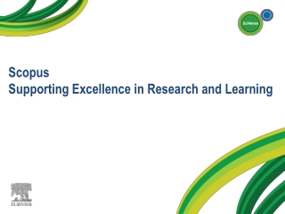 Scopus Supporting Excellence in Research and Learning
