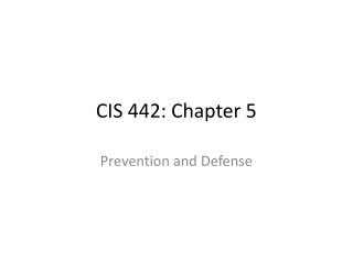 CIS 442: Chapter 5