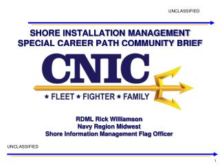 SHORE INSTALLATION MANAGEMENT SPECIAL CAREER PATH COMMUNITY BRIEF