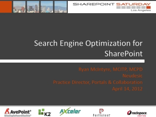 Search Engine Optimization for SharePoint