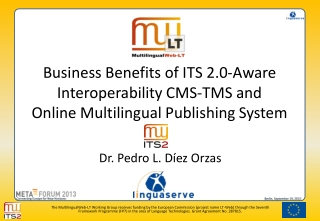 Business Benefits of ITS 2.0-Aware Interoperability CMS-TMS and  Online Multilingual Publishing System