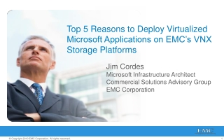 Top 5 Reasons to Deploy Virtualized Microsoft Applications on EMC's VNX Storage Platforms