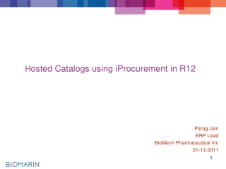 H osted Catalogs using  iProcurement  in R12