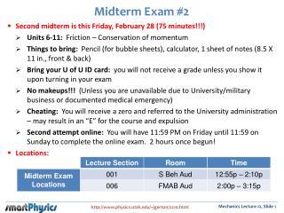 Midterm Exam #2
