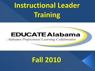 Instructional Leader  Training