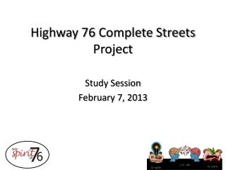 Highway 76 Complete Streets Project