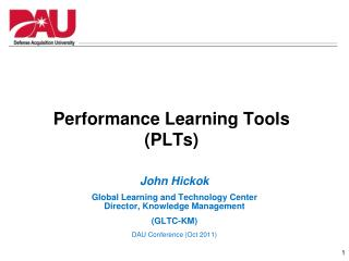 Performance Learning Tools (PLTs)