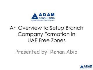 An Overview to Setup Branch Company Formation in  UAE Free Zones