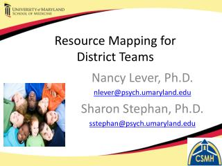 Resource Mapping for  District Teams