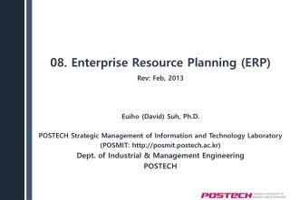 08. Enterprise  Resource Planning (ERP)