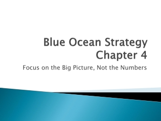 Blue Ocean Strategy Chapter 4