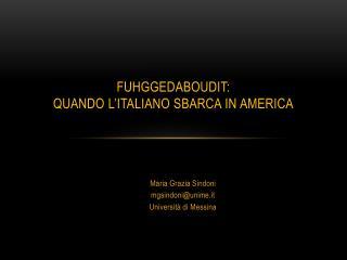 fuHggedaboudit :  quando  l'italiano sbarca in  america