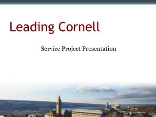Leading Cornell
