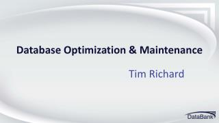 Database Optimization & Maintenance
