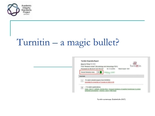 Turnitin – a magic bullet?