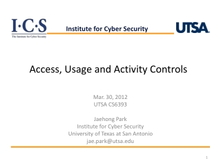 Access , Usage and  Activity Controls