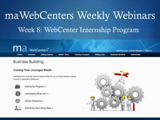 maWebCenters Weekly Webinars