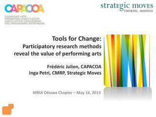 MRIA Ottawa Chapter – May 16, 2013
