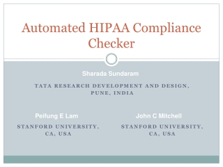 Automated HIPAA Compliance Checker