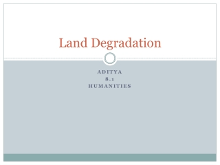 Land Degradation