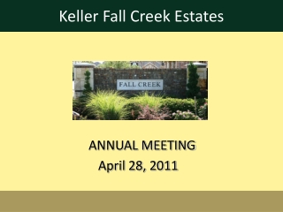 ANNUAL MEETING                      April 28, 2011