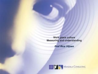 Work place culture  Measuring  and  understanding Prof  Rica Viljoen