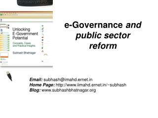 e-Governance  and  public sector reform