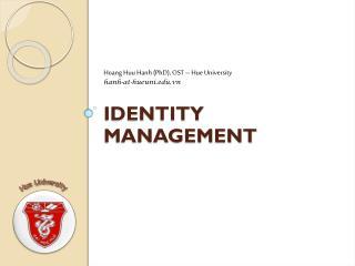Identity Management