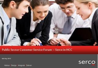 Public Sector Customer Service Forum – Serco in HCC