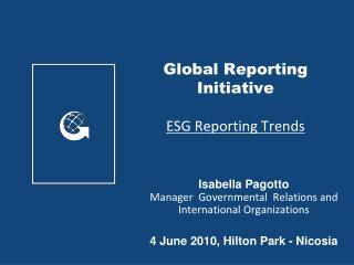 Global Reporting Initiative  ESG Reporting Trends