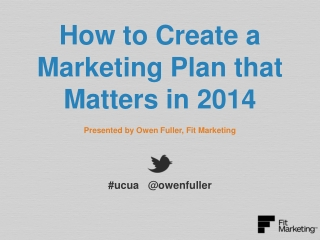 How to Create a Marketing Plan that Matters in 2014