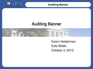 Auditing Banner