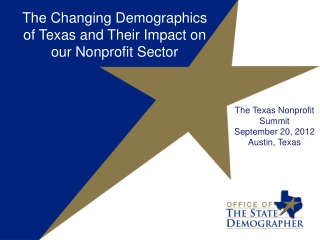 The Changing Demographics of Texas and Their Impact on our Nonprofit Sector